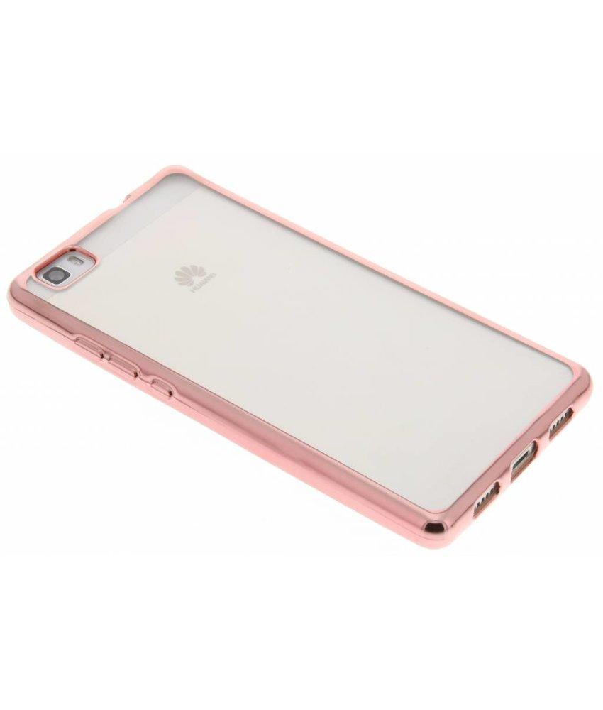 Rosé TPU hoesje met metallic rand Huawei P8 Lite