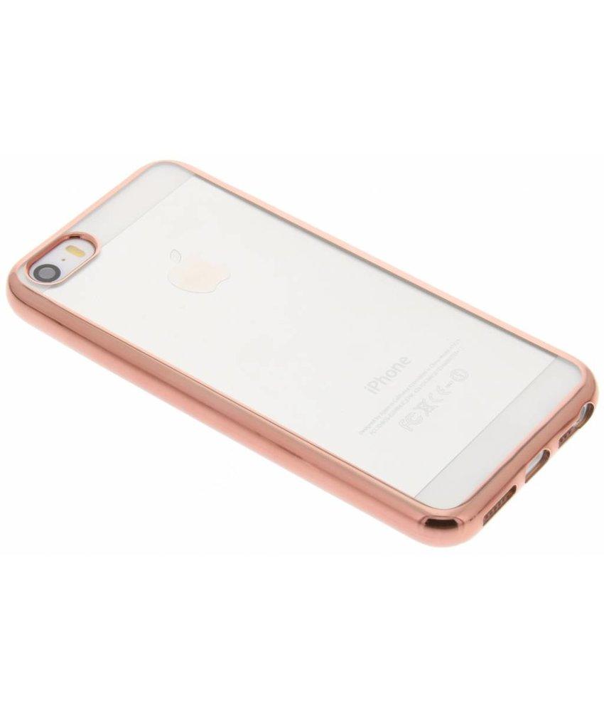 TPU hoesje met metallic rand iPhone 5 / 5s / SE