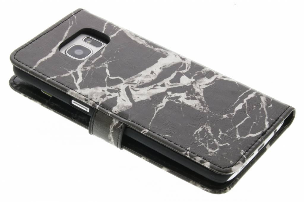 Livre Boîtier De Type Marbre Noir Bord Samsung Galaxy S fiCDl62H6