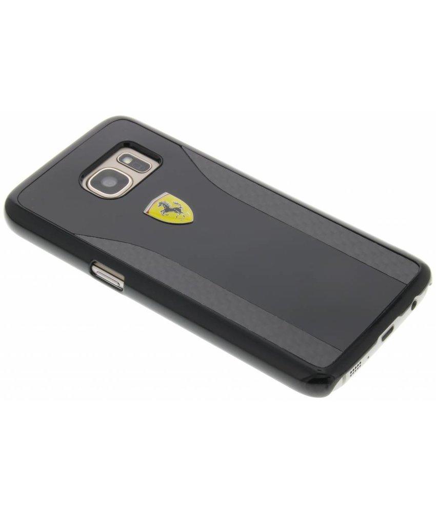Ferrari Real Carbon Fiber Hard Case Samsung Galaxy S7 - Zwart