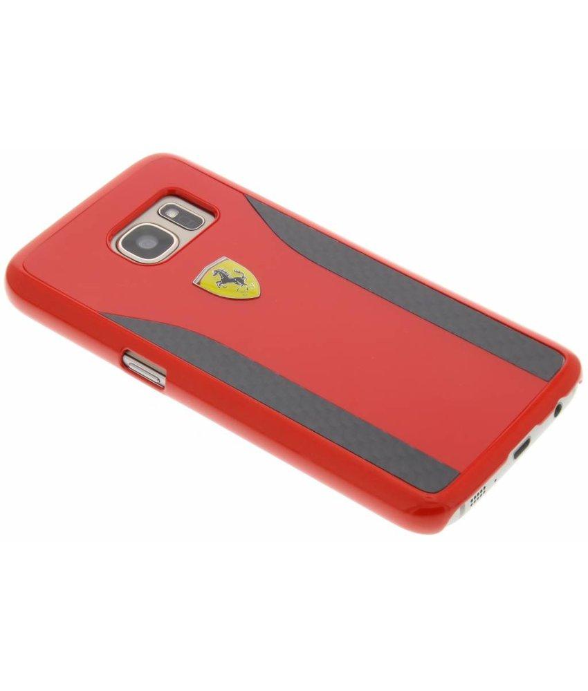 Ferrari Real Carbon Fiber Hard Case Samsung Galaxy S7 - Rood