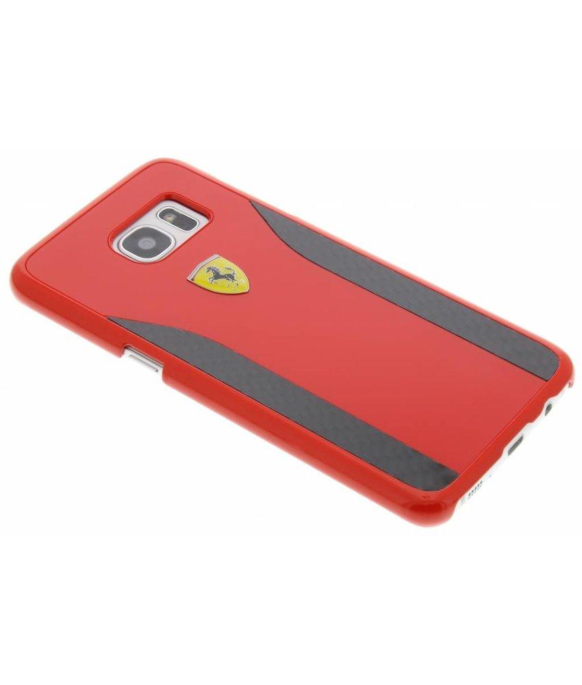 Ferrari Real Carbon Fiber Hard Case Samsung Galaxy S7 Edge - Rood