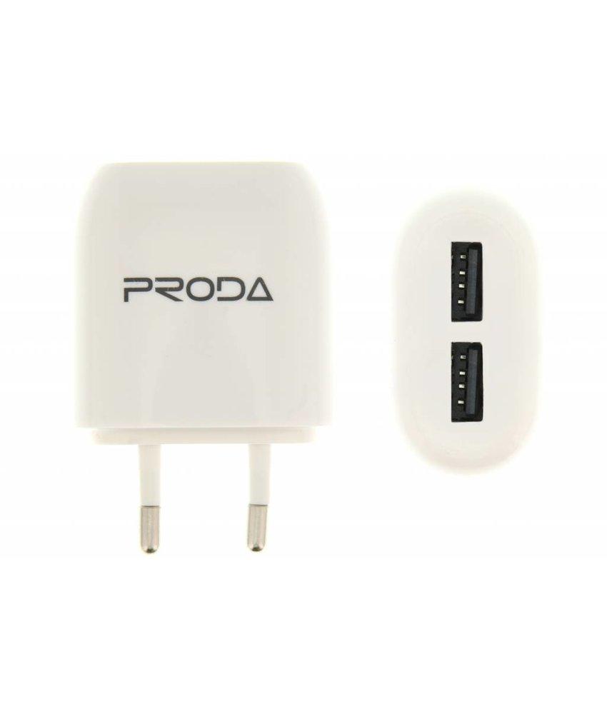 Proda 2-Poorts USB Adapter 2,1 ampère