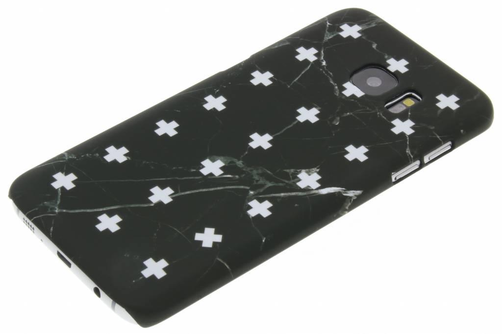Marbre Noir Ainsi Que La Conception De La Couverture Étui Rigide Pour Bord De Samsung Galaxy S GIZvFh0