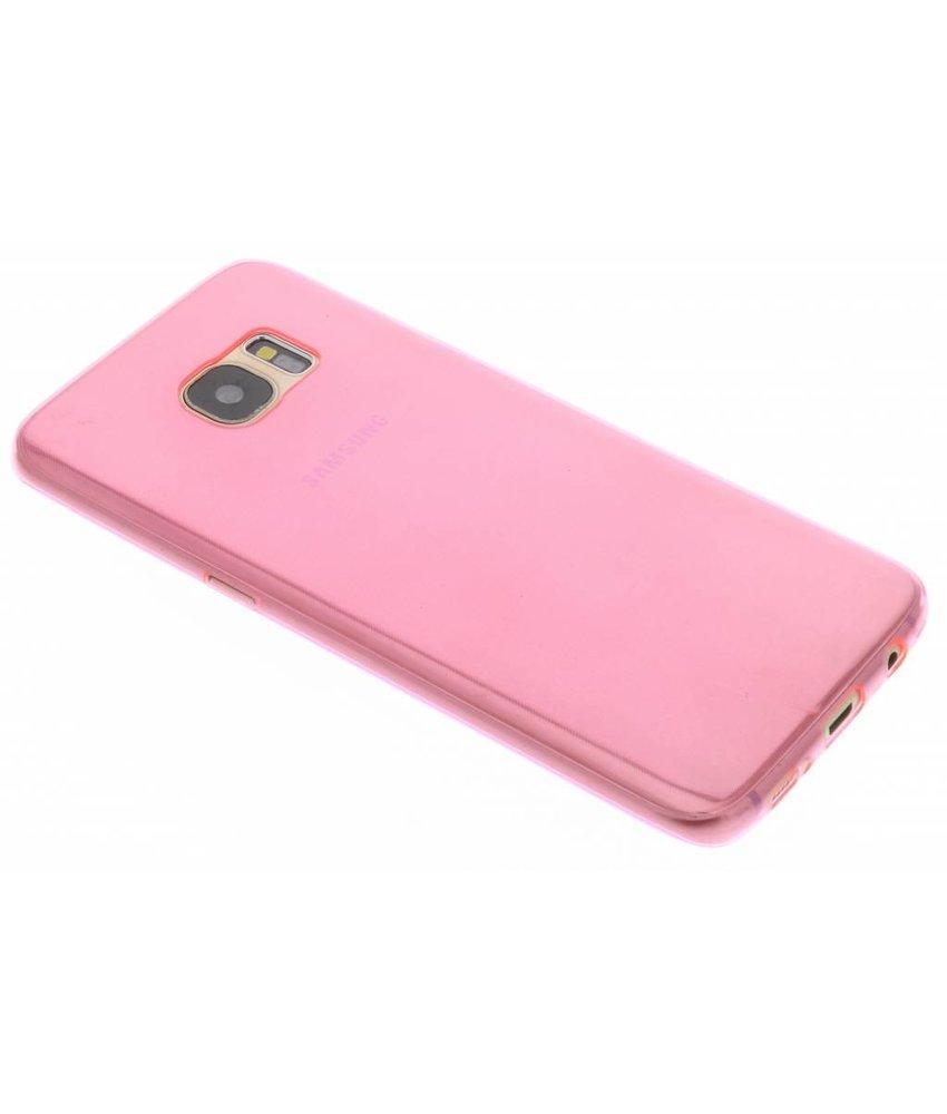 Roze ultra thin transparant TPU hoesje Samsung Galaxy S7 Edge