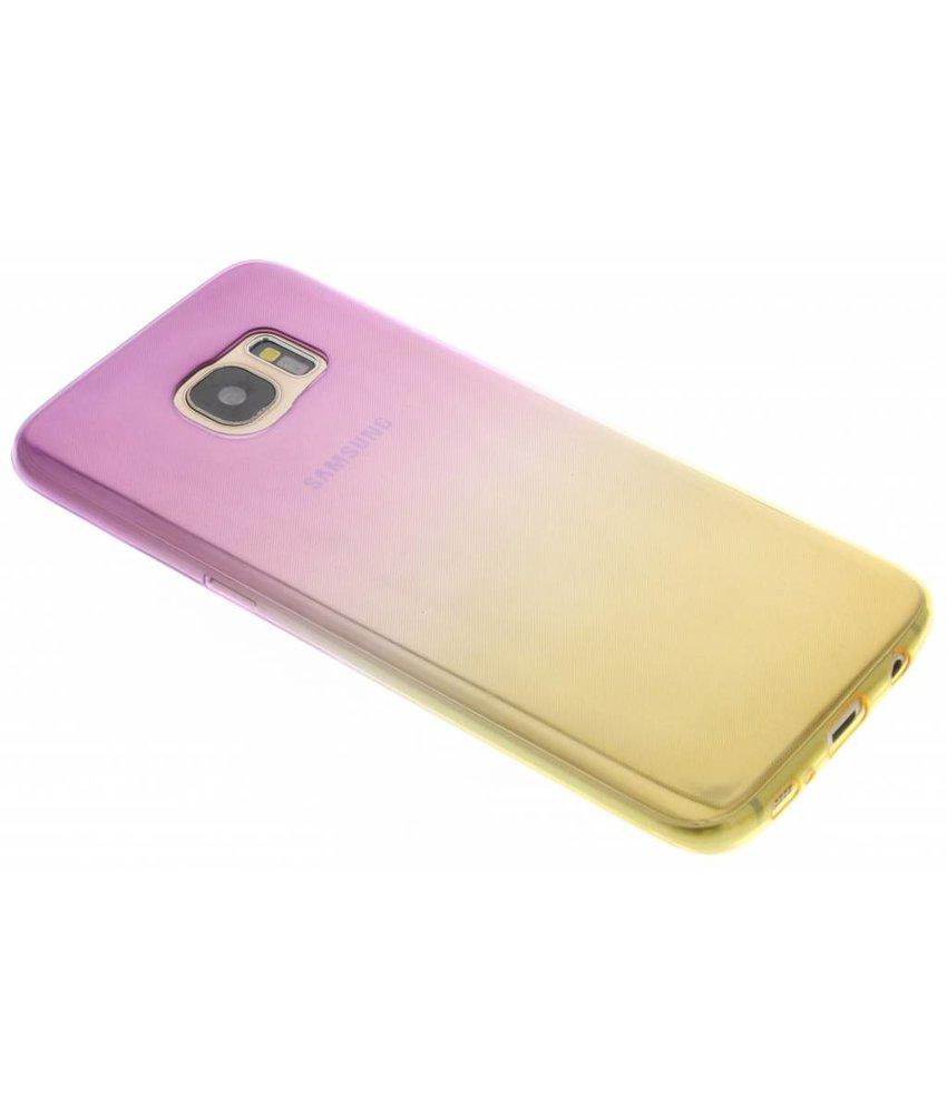 Tweekleurig TPU siliconen hoesje Samsung Galaxy S7 Edge