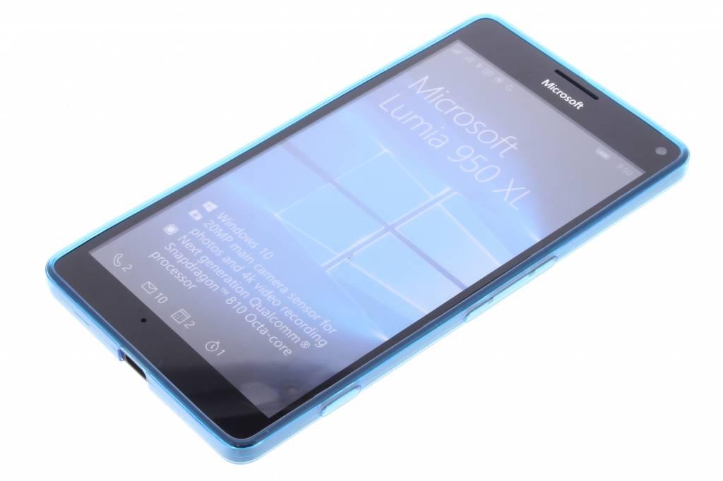 Bleu Ultra Mince Cas De Tpu Transparent Pour Microsoft Lumia 950 Xl XjJZPN