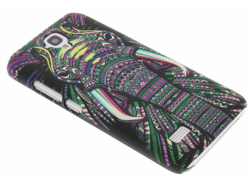 Conception Aztec Animal Éléphant, Étui Rigide Pour Huawei Y5