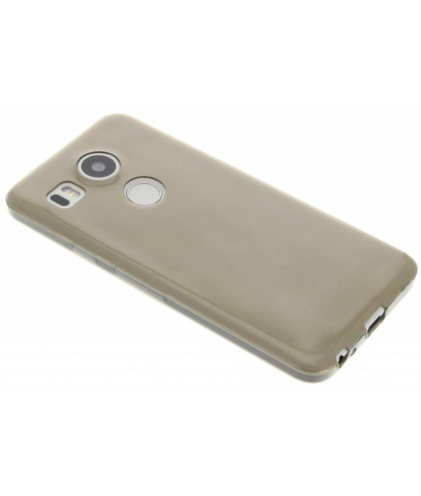 Grijs ultra thin transparant TPU hoesje LG Nexus 5X