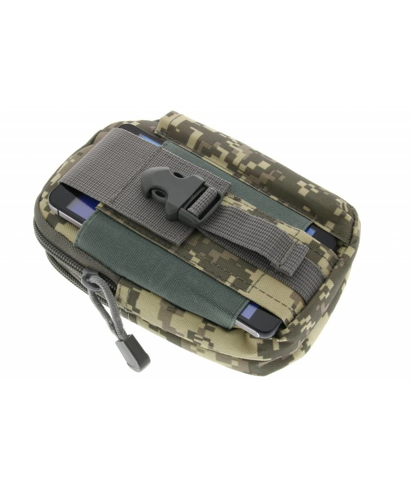 Grijs camo outdoor survival tasje