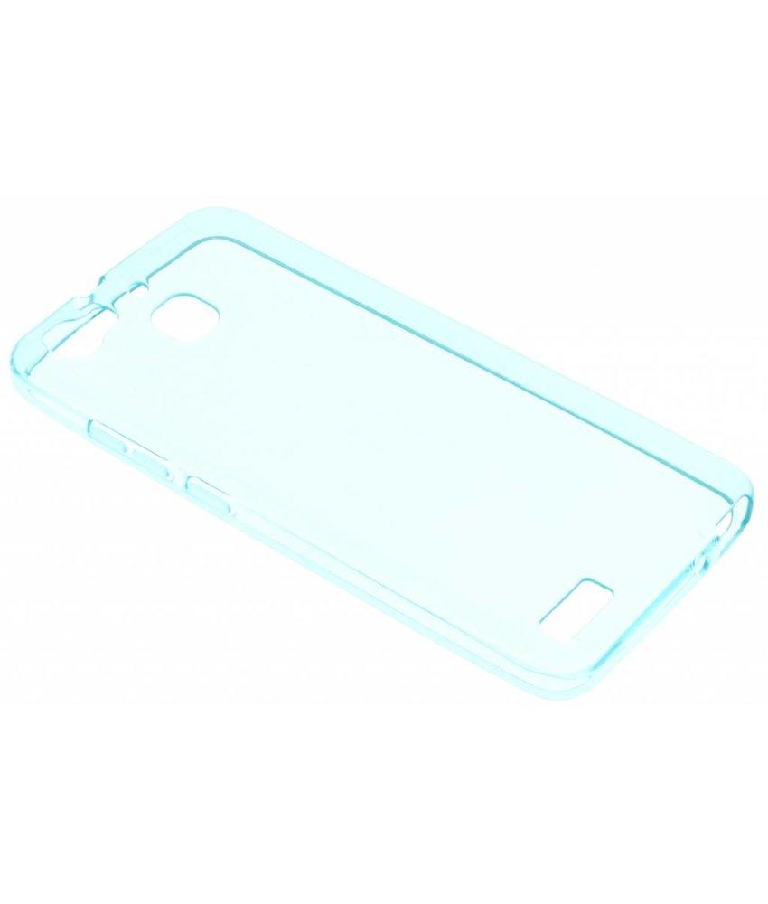 Blauw transparant gel case Huawei GR3