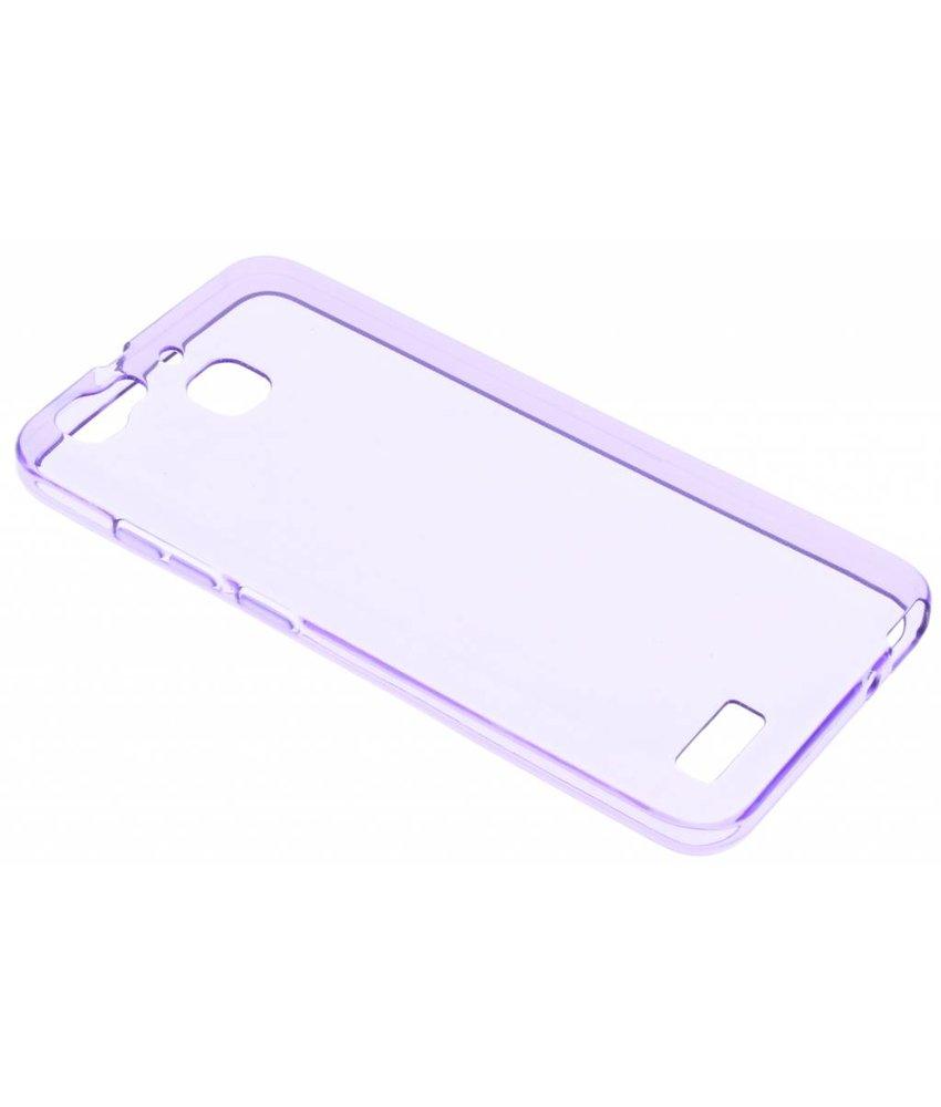 Paars transparant gel case Huawei GR3