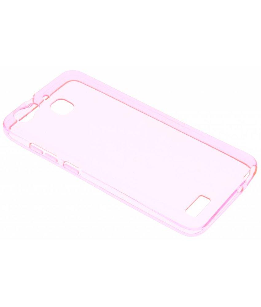 Roze transparant gel case Huawei GR3