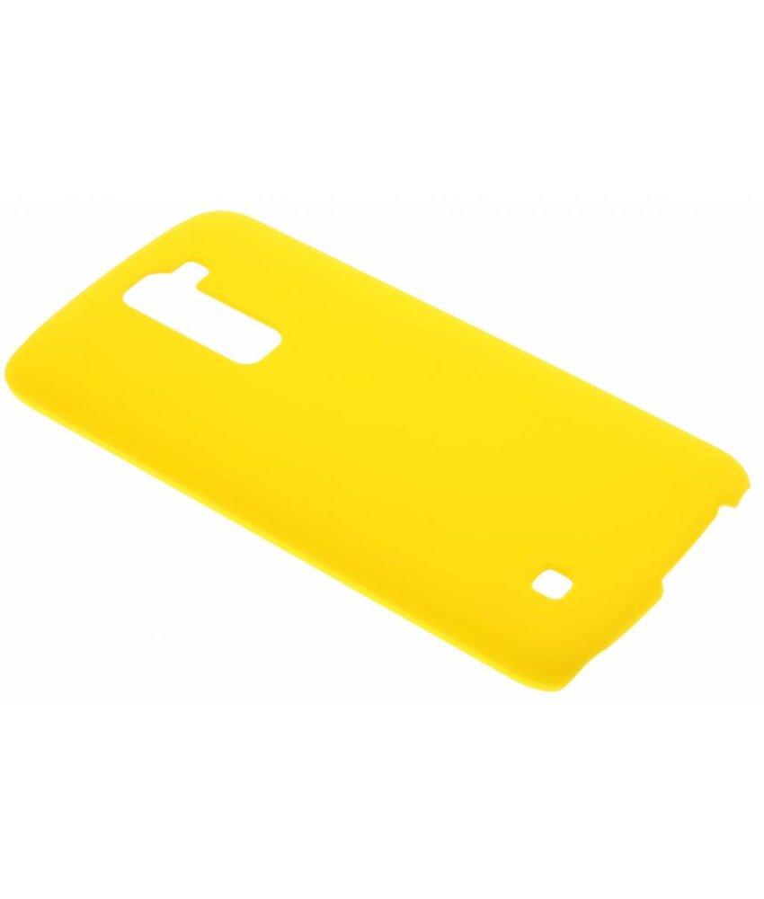 Geel effen hardcase hoesje LG K10