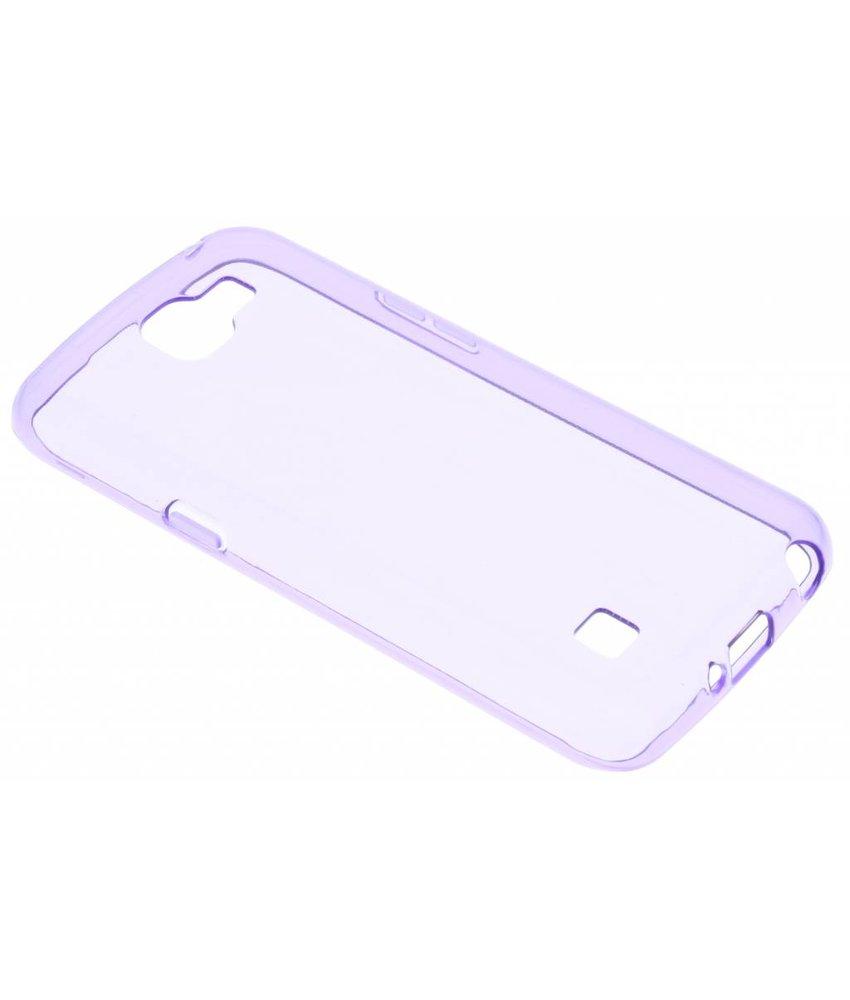 Paars transparant gel case LG K4