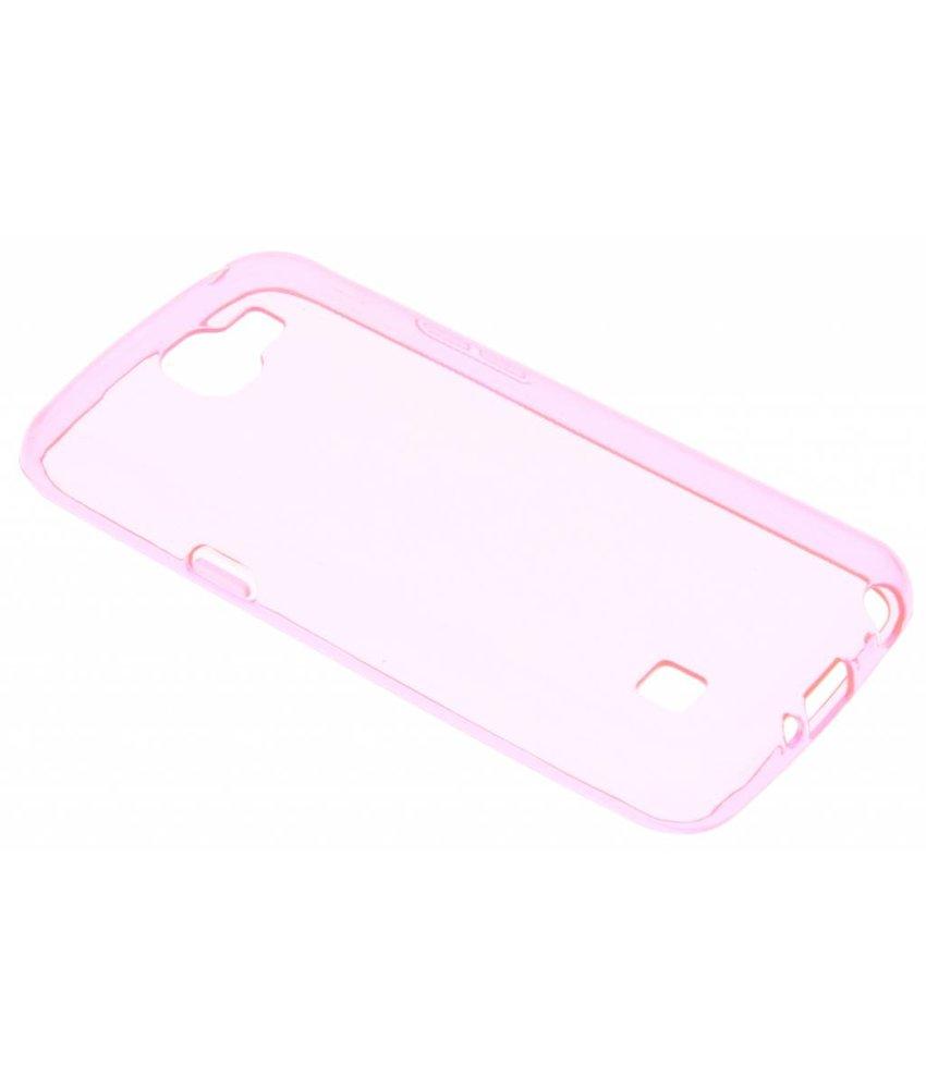 Roze transparant gel case LG K4