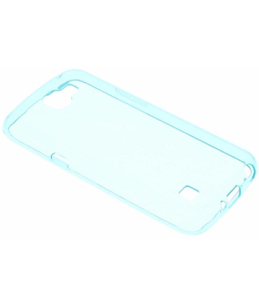 Blauw transparant gel case LG K4