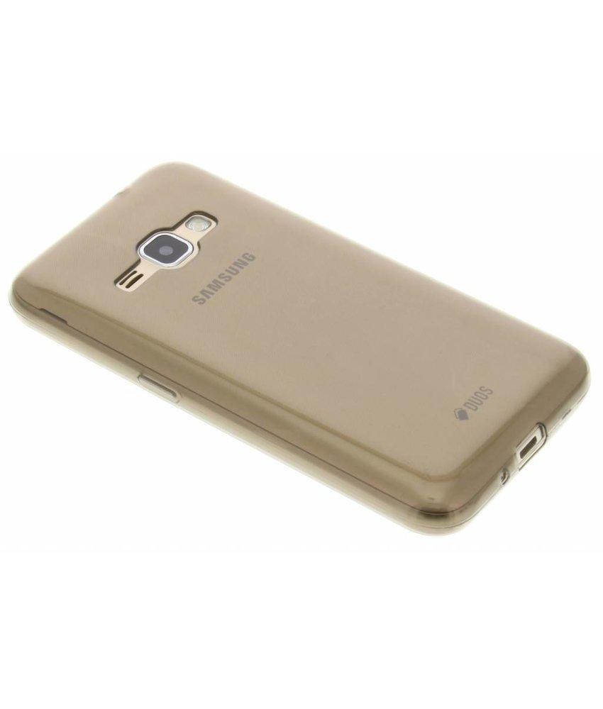 Grijs ultra thin transparant TPU hoesje Samsung Galaxy J1 (2016)