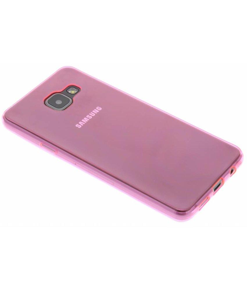 Roze ultra thin transparant TPU hoesje Samsung Galaxy A3 (2016)