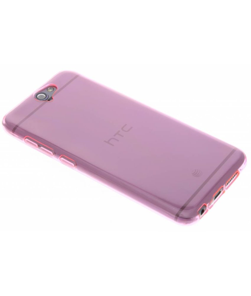 Roze transparant gel case HTC One A9
