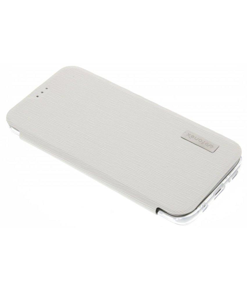 Fonex Crystal Slim Book Samsung Galaxy S7 Edge - Wit