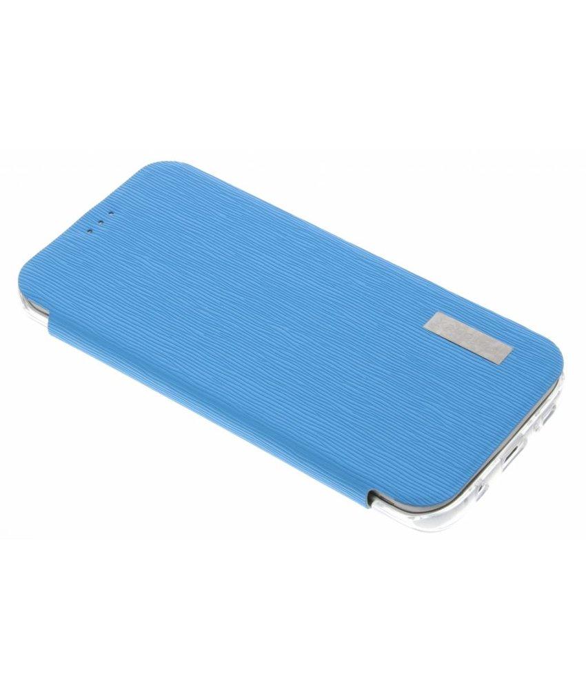 Fonex Crystal Slim Book Samsung Galaxy S7 Edge - Lichtblauw