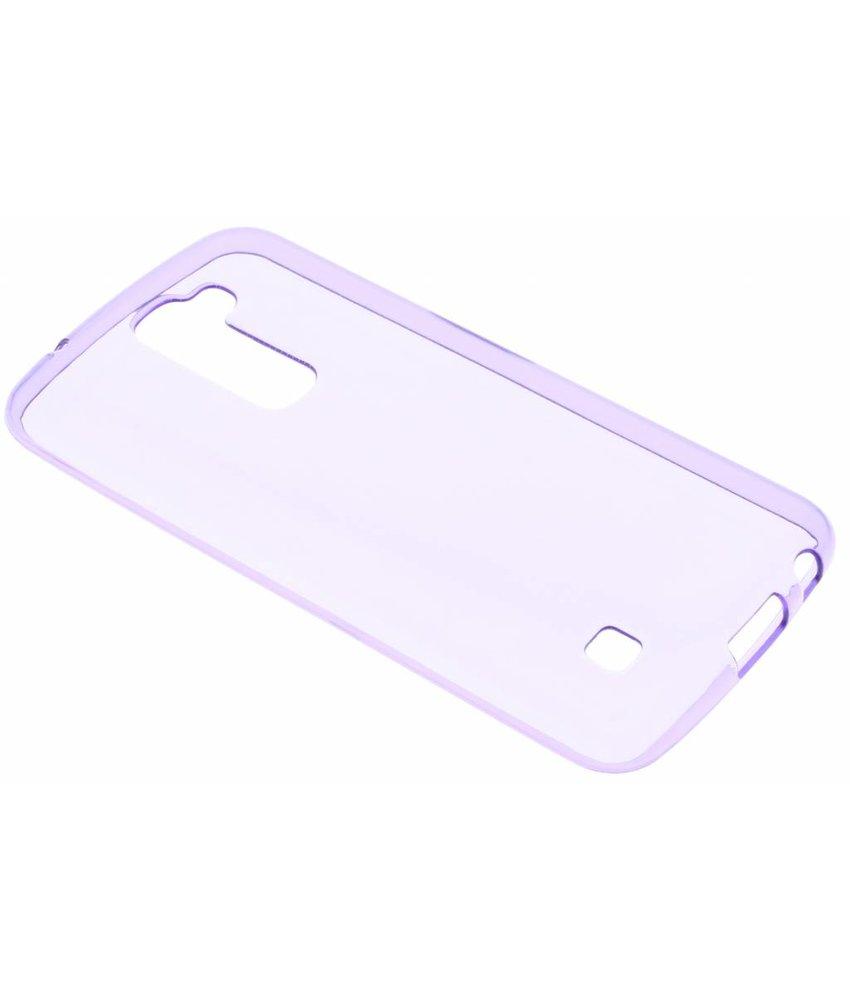 Paars transparant gel case LG K10