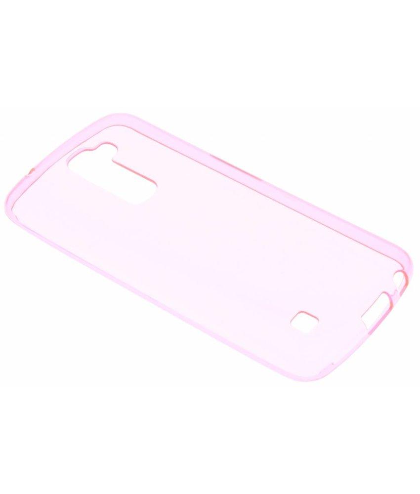 Roze transparant gel case LG K10