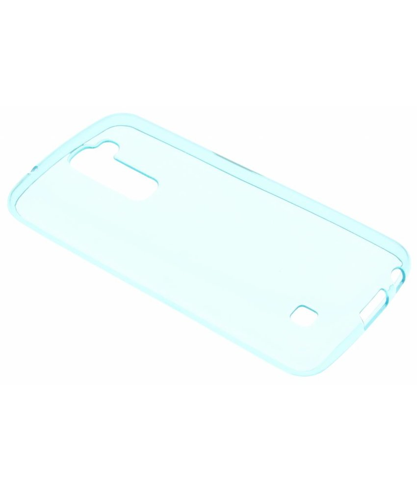 Turquoise transparant gel case LG K10
