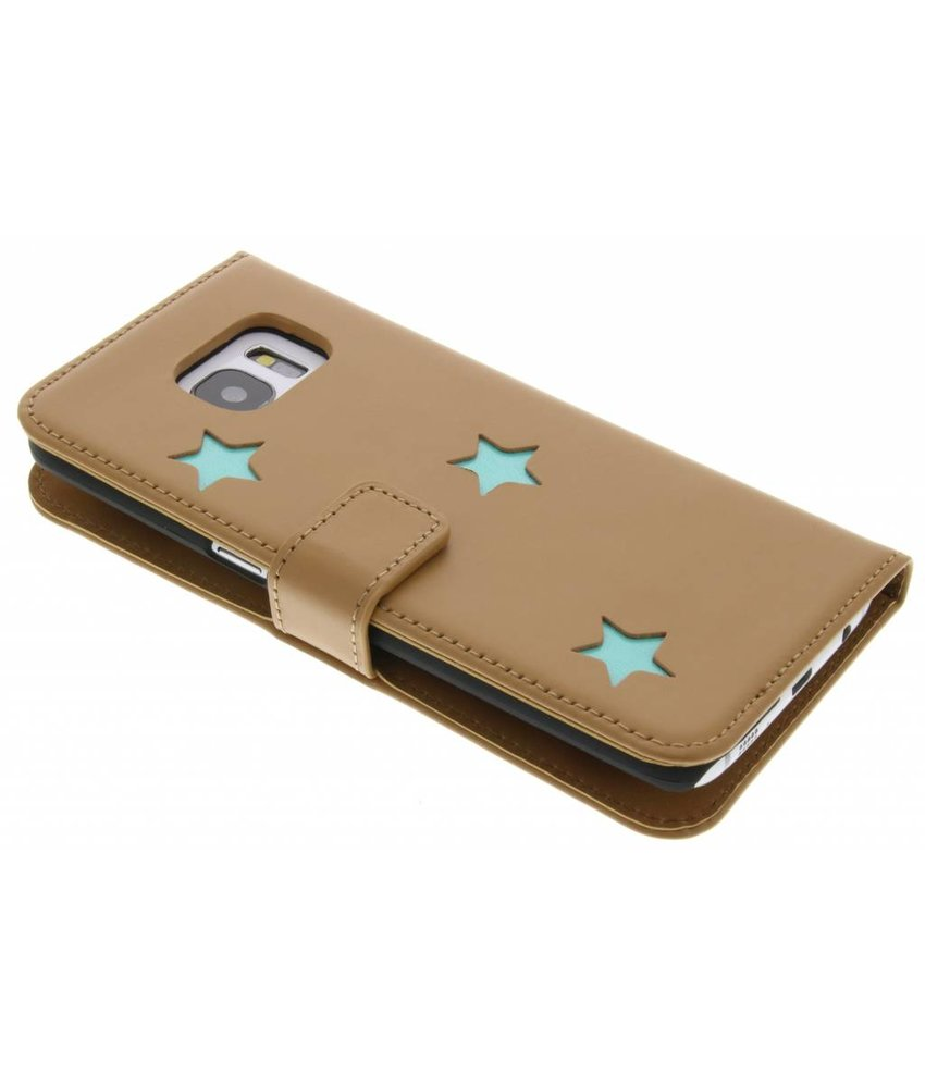 Fab. Aqua Reversed Star Booktype Samsung Galaxy S7 Edge