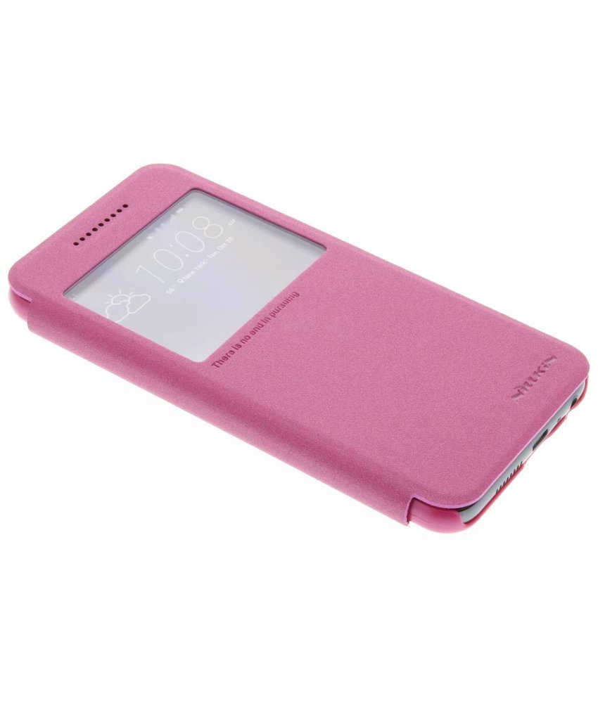 Nillkin Sparkle slim booktype hoes HTC One A9 - Fuchsia