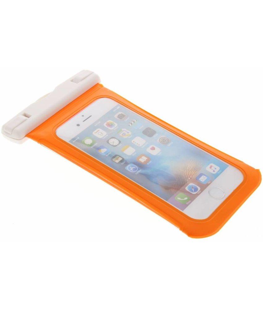 Oranje universele waterproof bag maat L