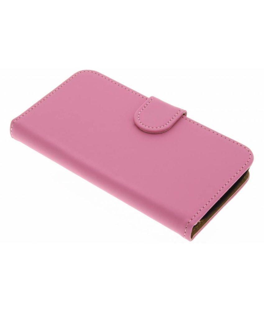 Roze effen booktype hoes LG K4