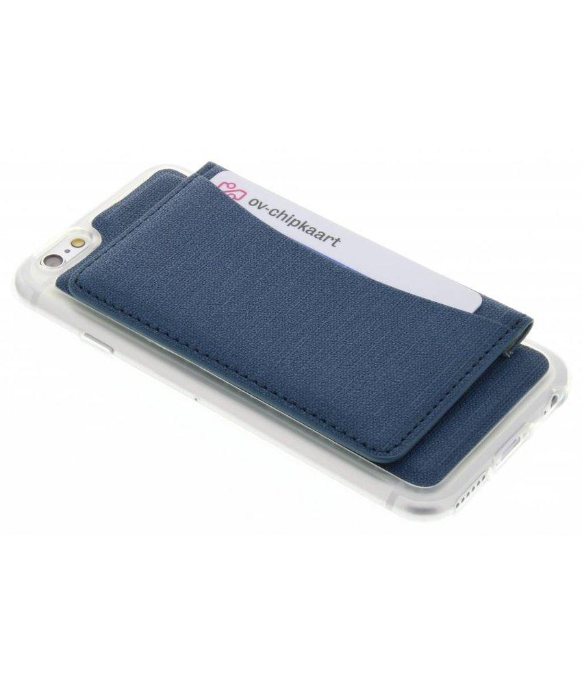 Blauw TPU hoesje met pasjeshouder iPhone 6 / 6s