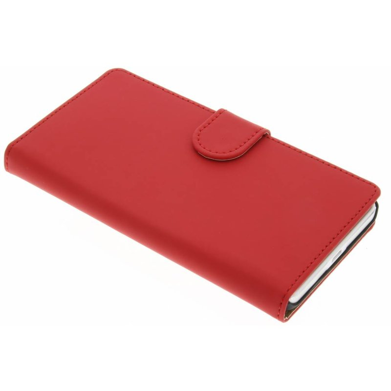 Rood effen booktype hoes Microsoft Lumia 650