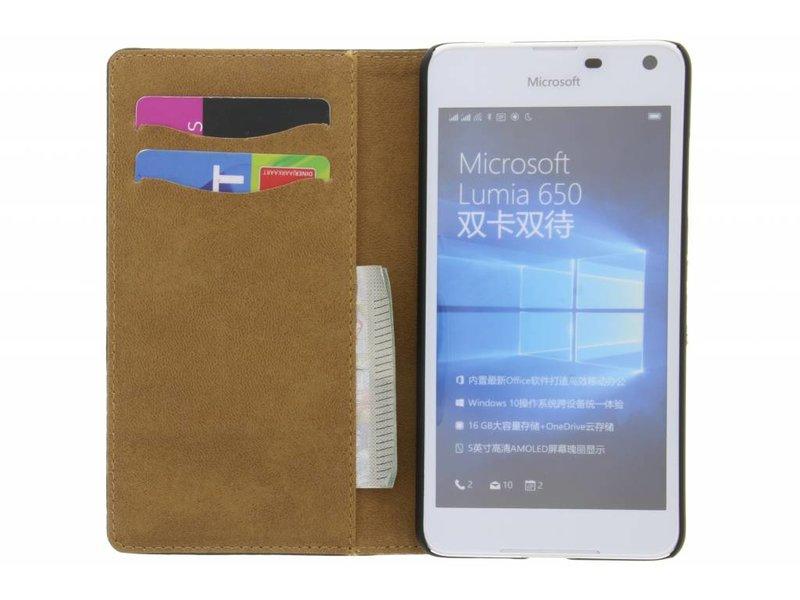 Microsoft Lumia 650 hoesje - Witte krokodil booktype hoes