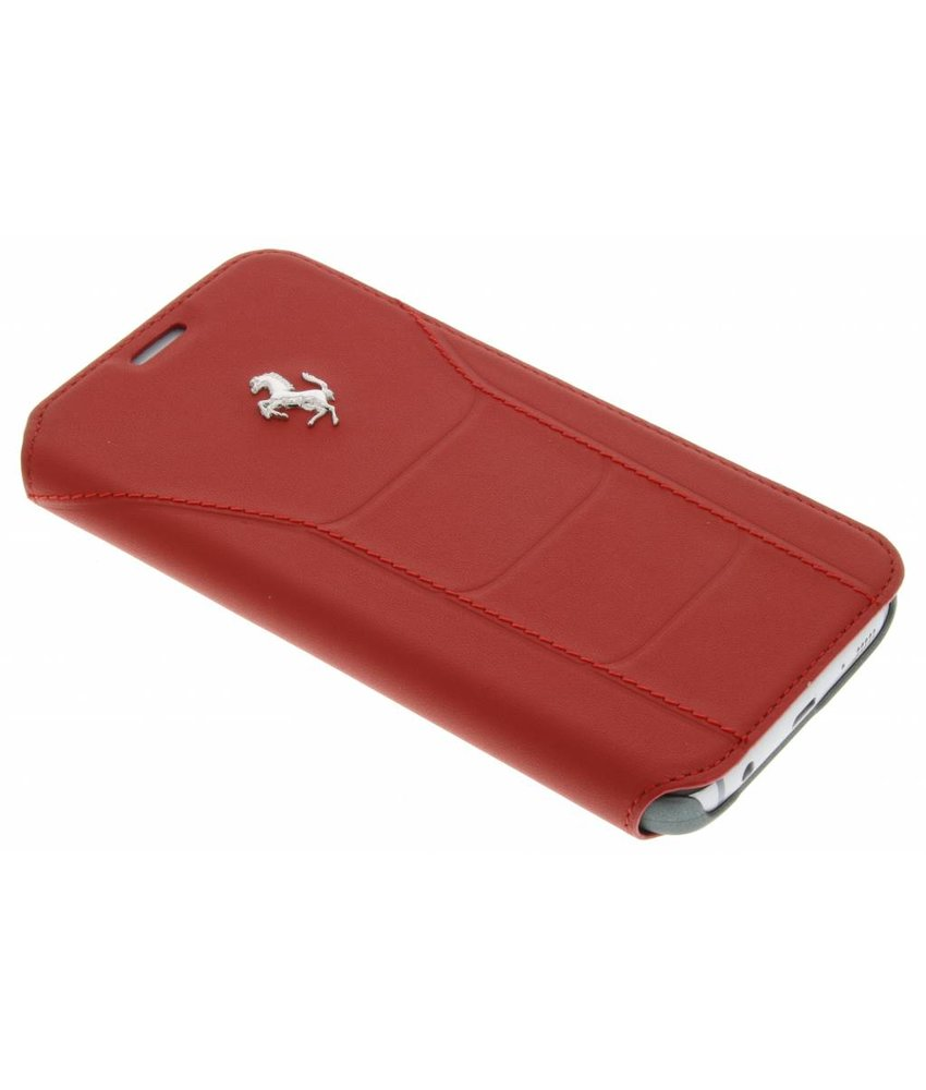 Ferrari Leather Booktype Case Samsung Galaxy S7 - Rood