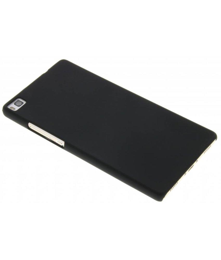 Zwart effen hardcase hoesje Huawei P8