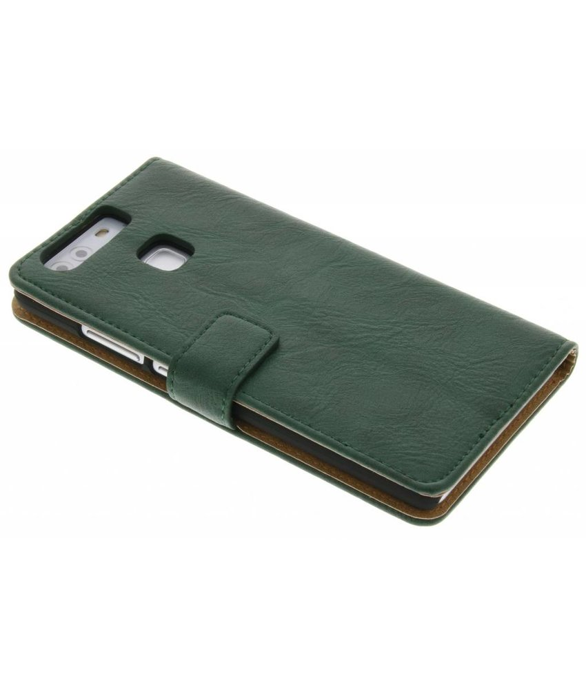 Groen kreukelleder booktype hoes Huawei P9