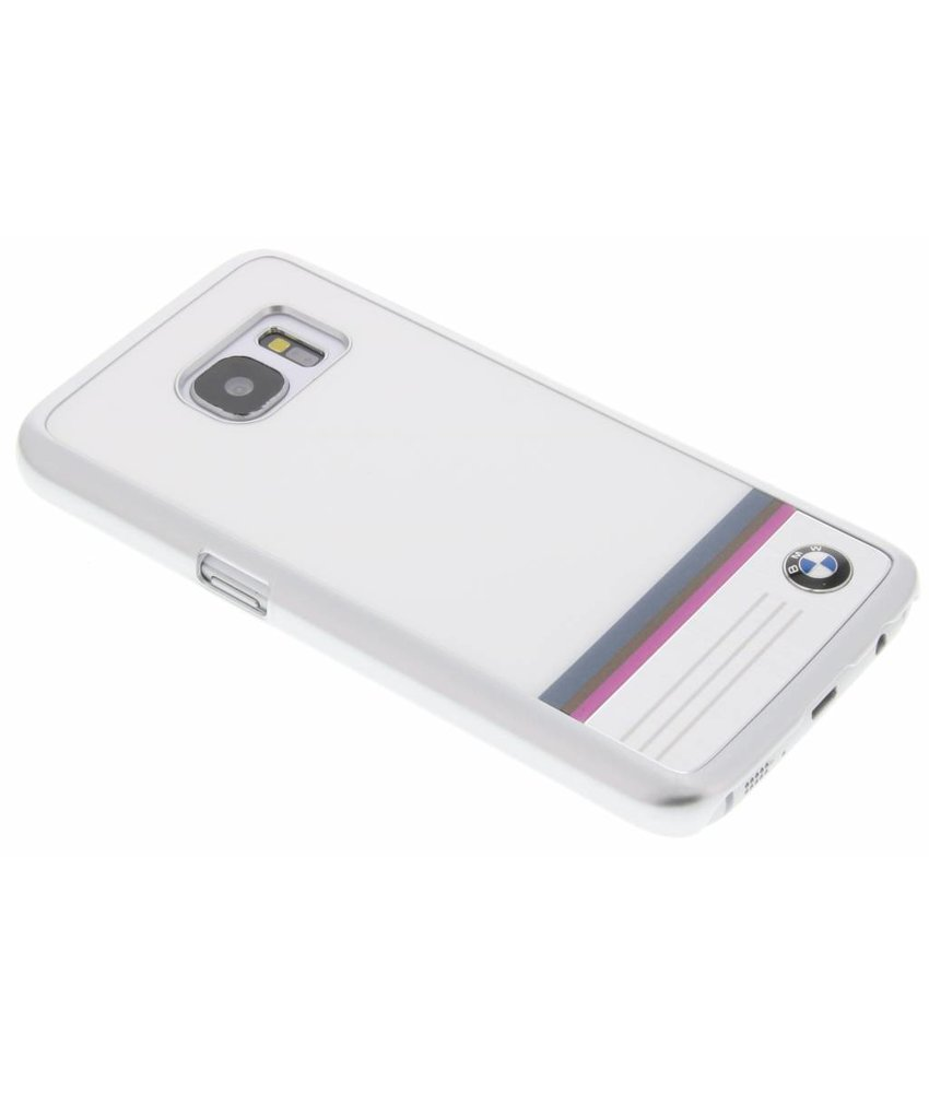 BMW Hard Case Aluminium Plate Samsung Galaxy S7 - Wit