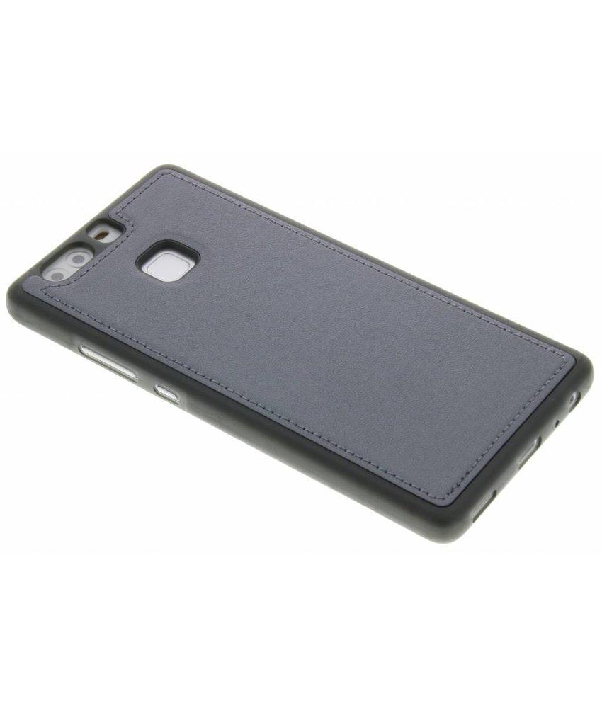 Grijs metallic lederen TPU case Huawei P9
