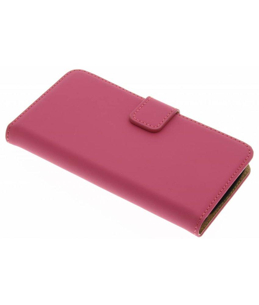 Selencia Luxe Book Case LG K4 - Fuchsia