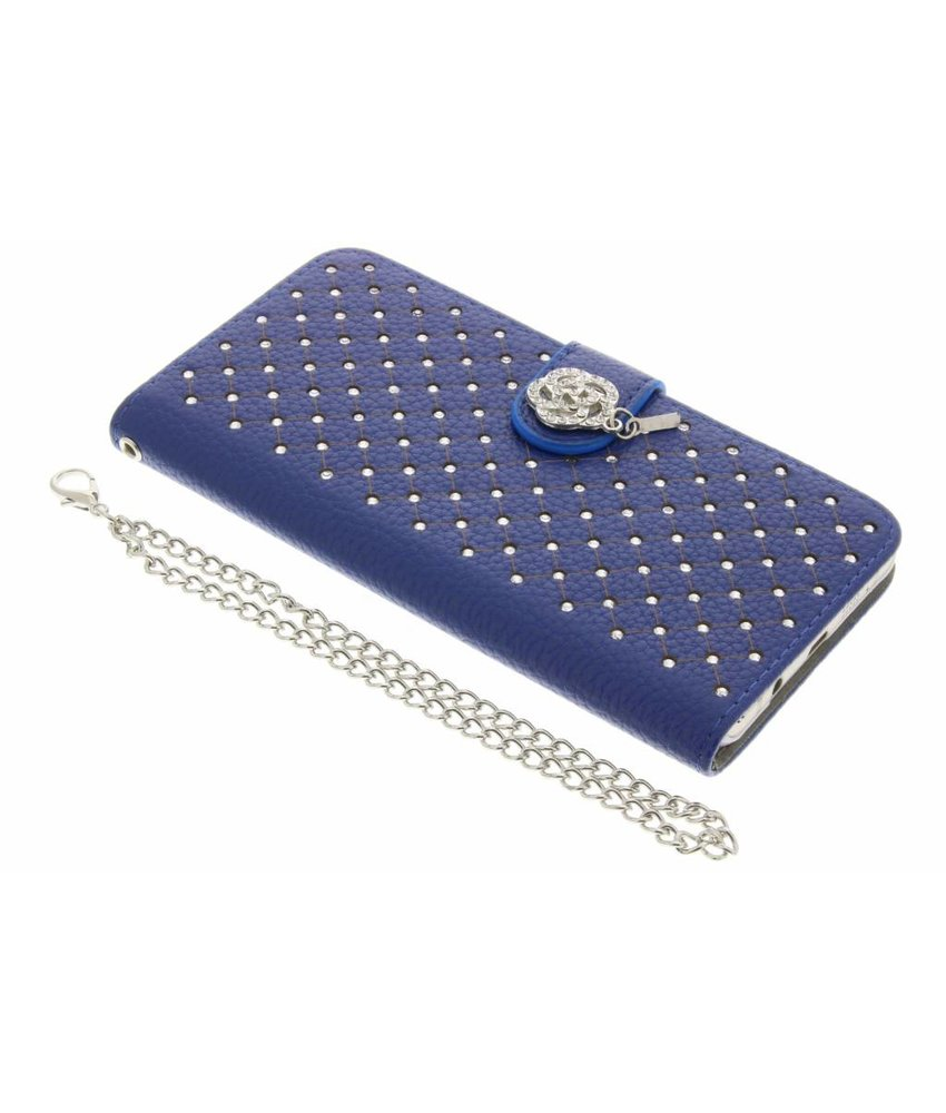 Blauw chique strass booktype hoes Samsung Galaxy A5 (2016)
