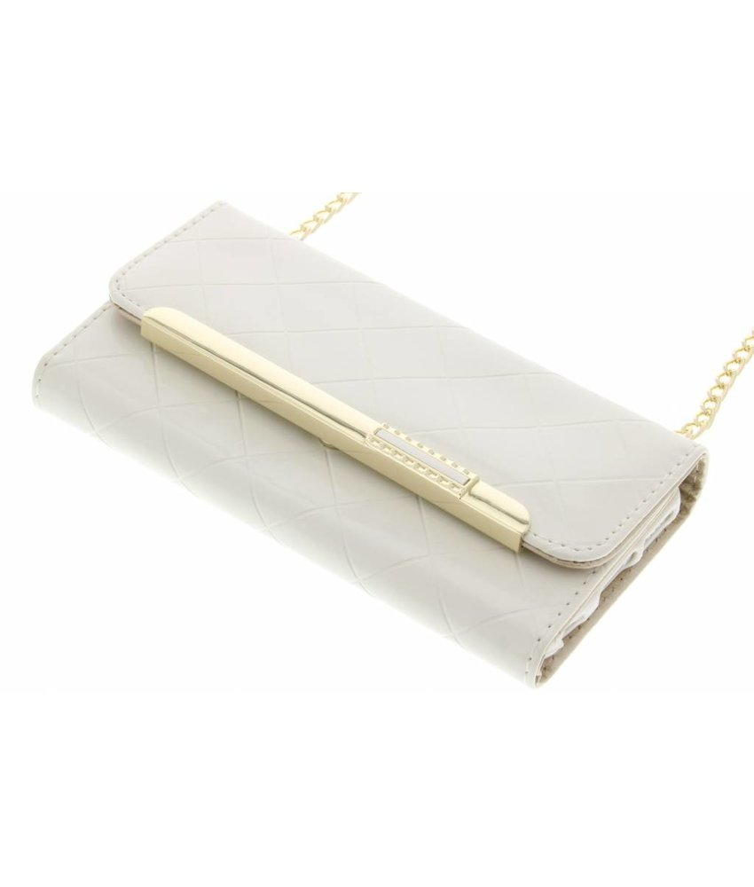 Wit glossy portemonnee hoesje iPhone 6 / 6s