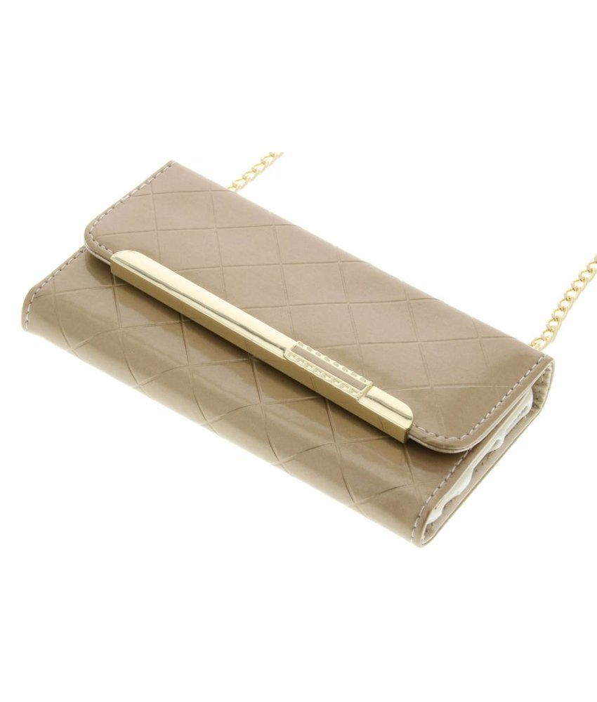 Goud glossy portemonnee hoesje iPhone 6 / 6s
