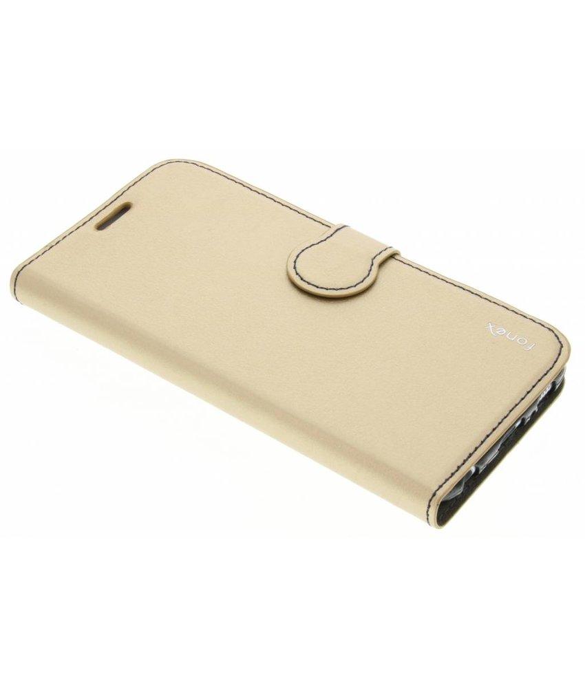 Fonex Identity Bookcase Samsung Galaxy S6 - Goud
