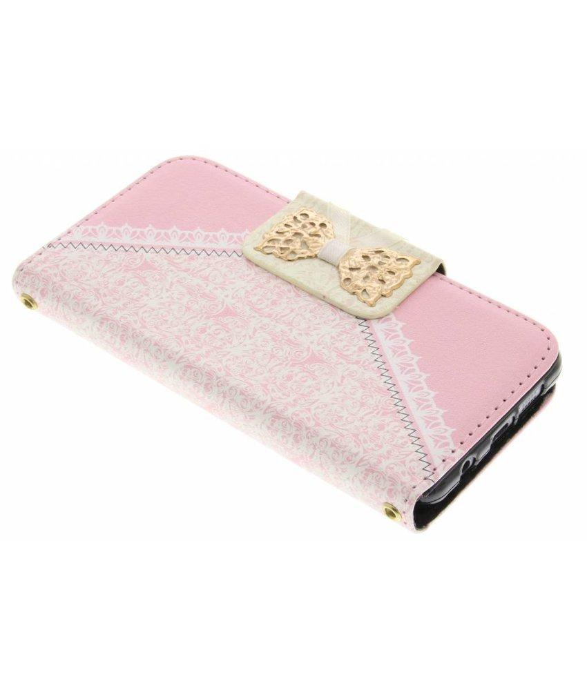 Roze sierlijke TPU booktype hoes Samsung Galaxy A3 (2016)