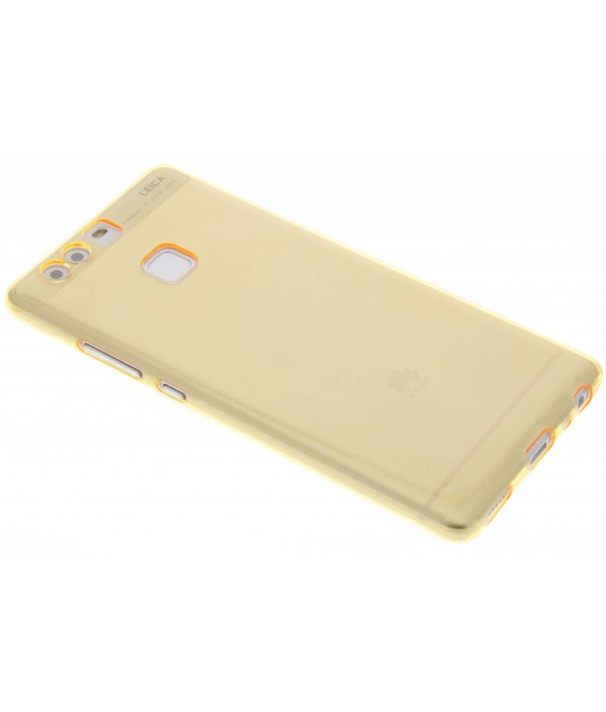 Oranje ultra thin transparant TPU hoesje Huawei P9
