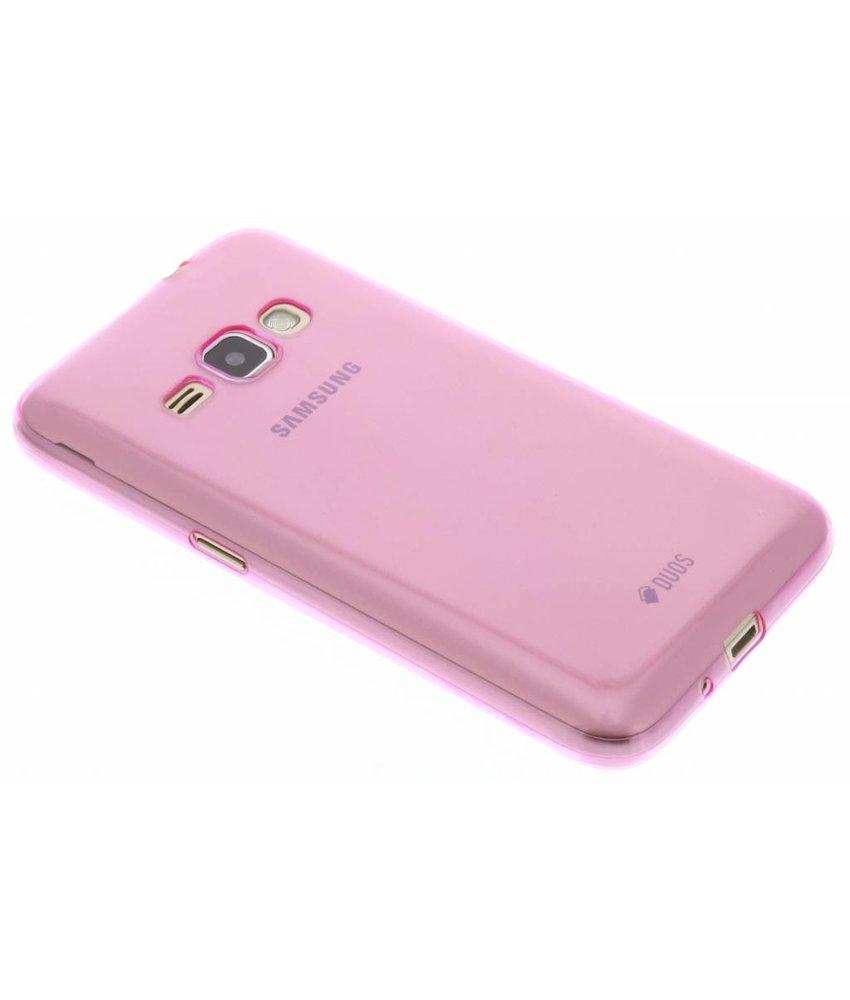 Paars ultra thin transparant TPU hoesje Samsung Galaxy J1 (2016)