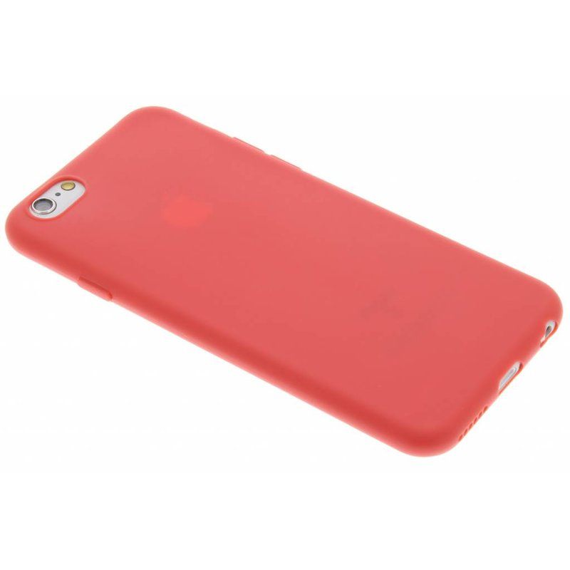 Rood Color TPU hoesje iPhone 6 / 6s
